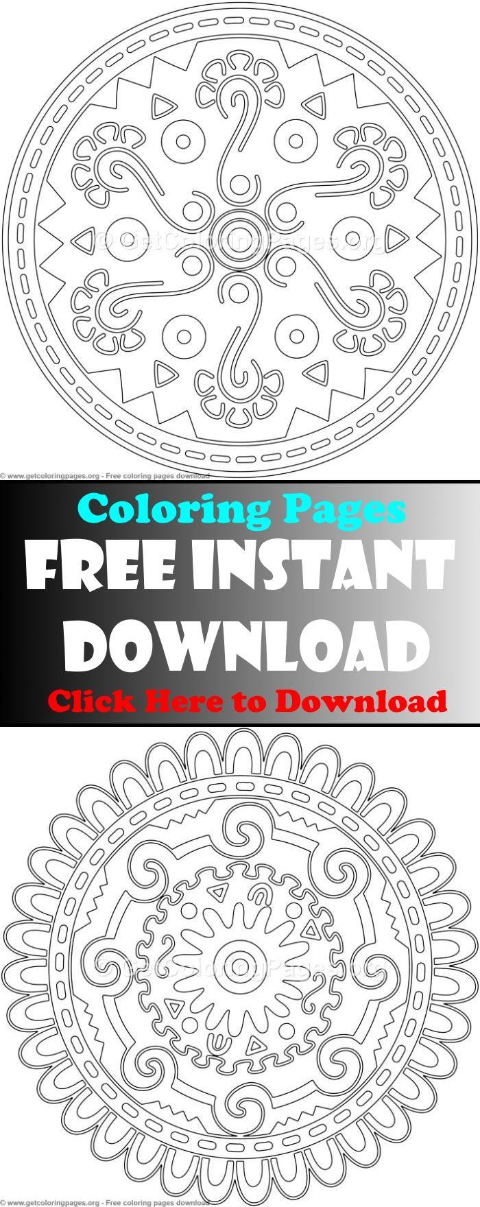 Mandala Coloring Pages Advanced Mandala Coloring Pages Mandala