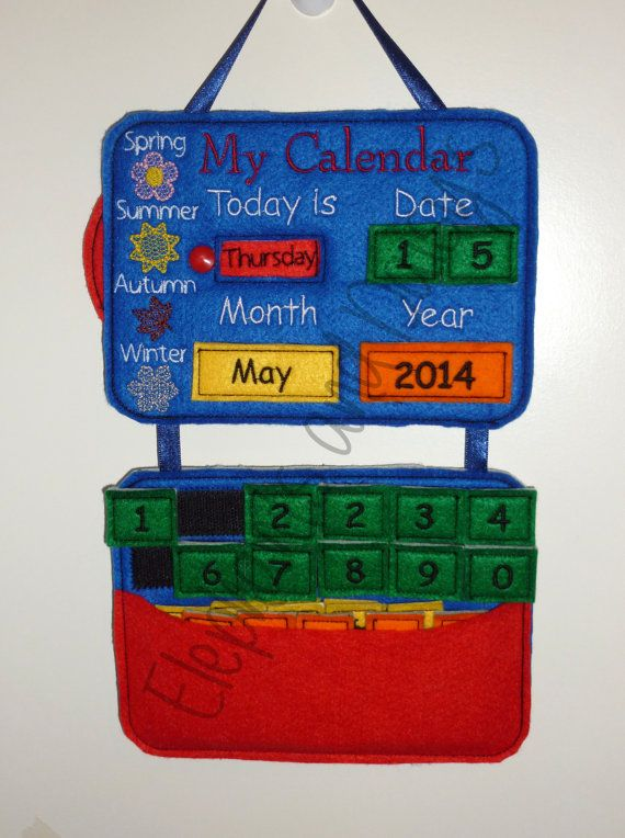 My Calendar design file *Offer Price till 22nd May 2014 * Comes in 5x7 Made in 5 simple hooping, the whole thing is made In The Hoop no