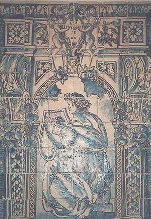 EUTERPE – Musa grega da Música (1670-1675) – Painel de azulejos (1,30x0,91 cm). Museu Nacional do Azulejo, Lisboa. EFEMÉRIDES DE NOVEMBRO  http://dotempodaoutrasenhora.blogspot.pt/2013/10/efemerides-de-novembro.html