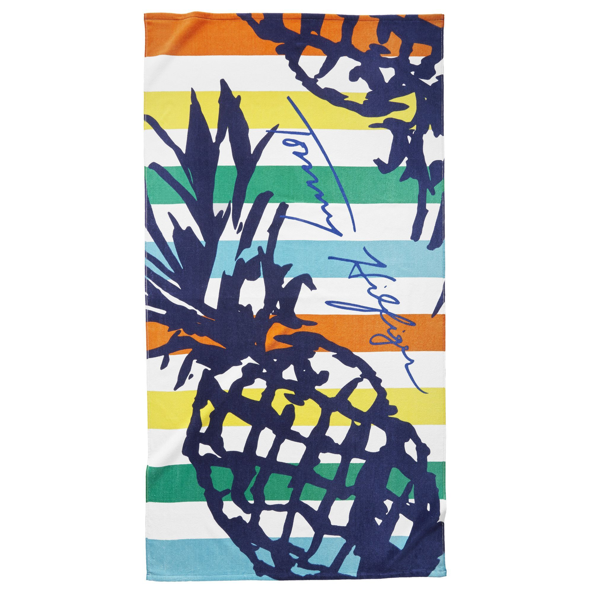 tommy hilfiger striped pineapple beach towel - Beach Towels On Sale