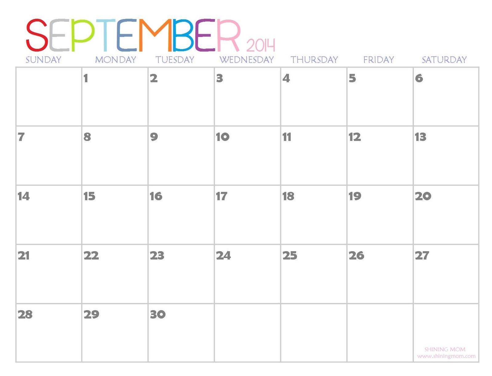Calendar for september 2014 download september 2014 calendar calendar for september 2014 download september 2014 calendar templates and free september 2014 saigontimesfo