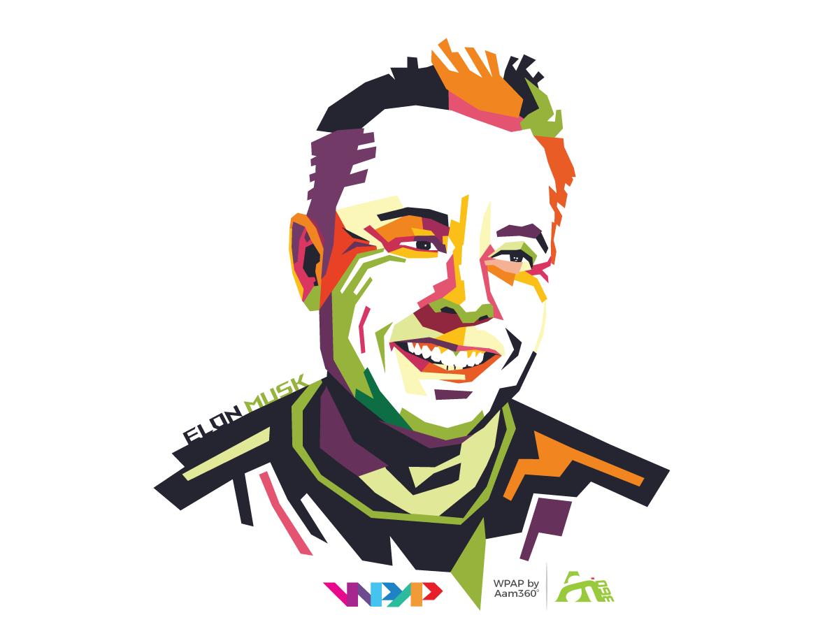 Elon Musk On Wpap Elon Musk Wpap Visionary Art