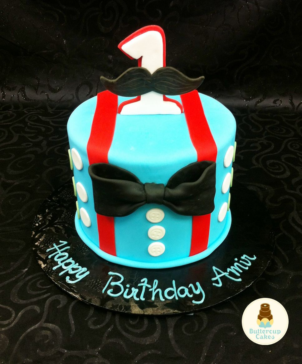 Little Man 1st Birthday Cake Baby Cakes Pinterest Birthday