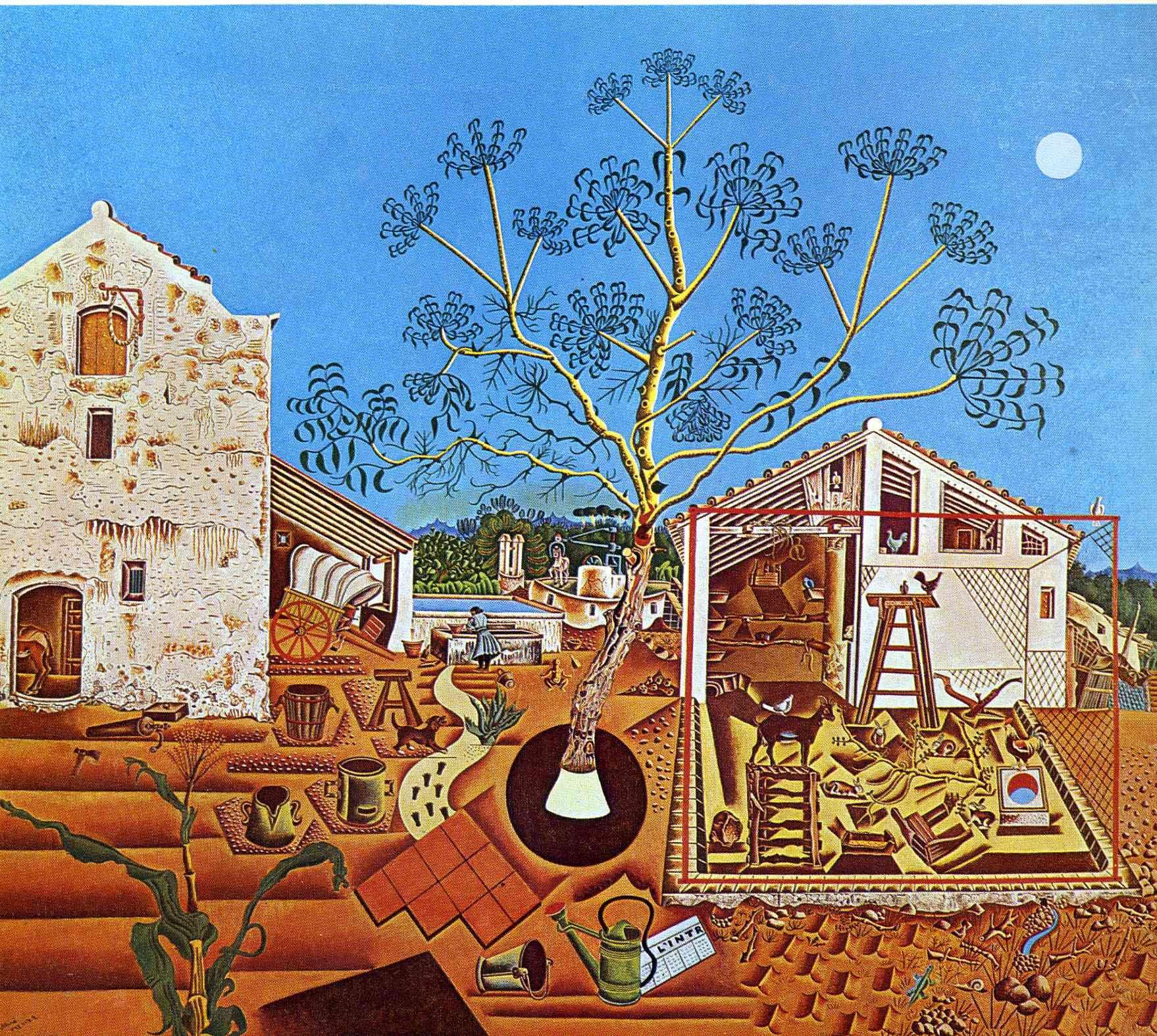 The Farm Joan Miro Paintings Wallpaper Image Miro