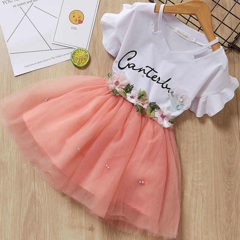 Casual Kids Dress for Girls Summer Baby Girl Princess Dresses Party Costume vestido Cartoon Birthday Children Clothes New Girls | www.babyliscious.com