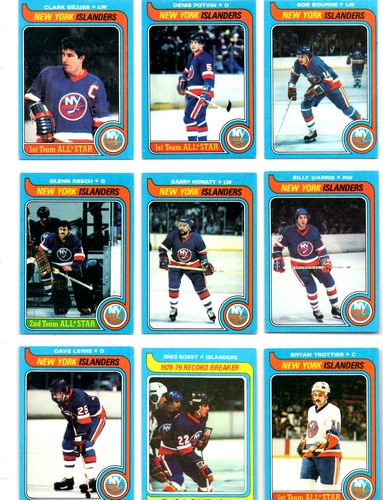 Vintage Hockey Cards 1979 Ny Islanders Set Of Nine Ebay Hockey Cards Hockey New York Islanders