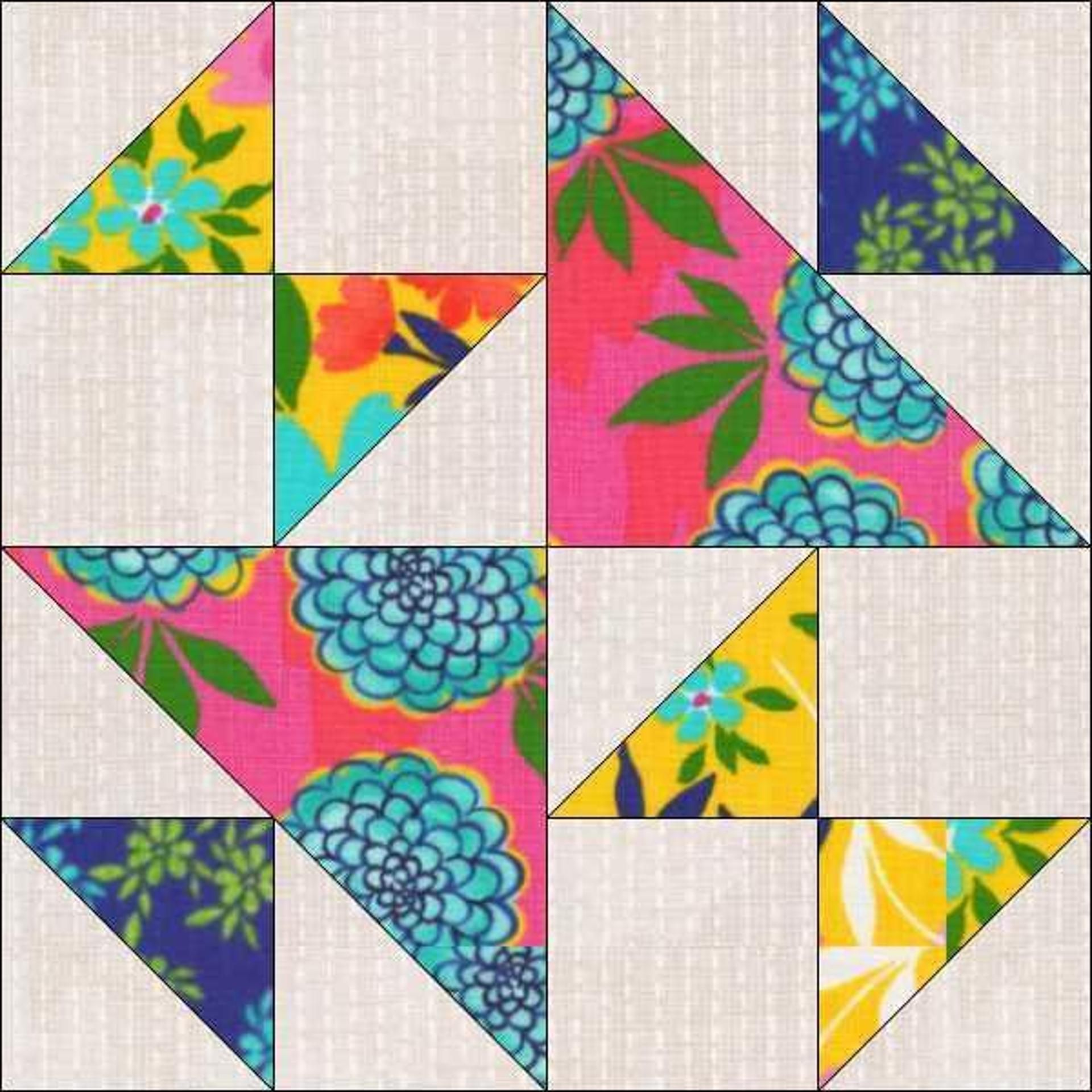 Old Maids Puzzle Quilt Block Pattern