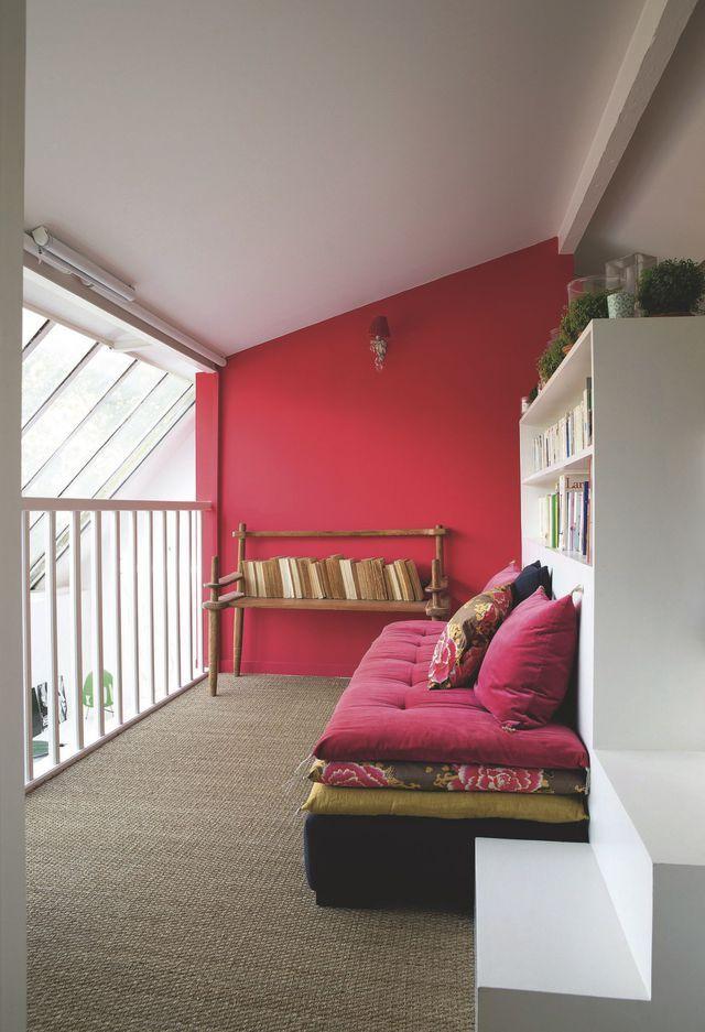 Mezzanine  inspiration gain de place Pinterest Edredones, House