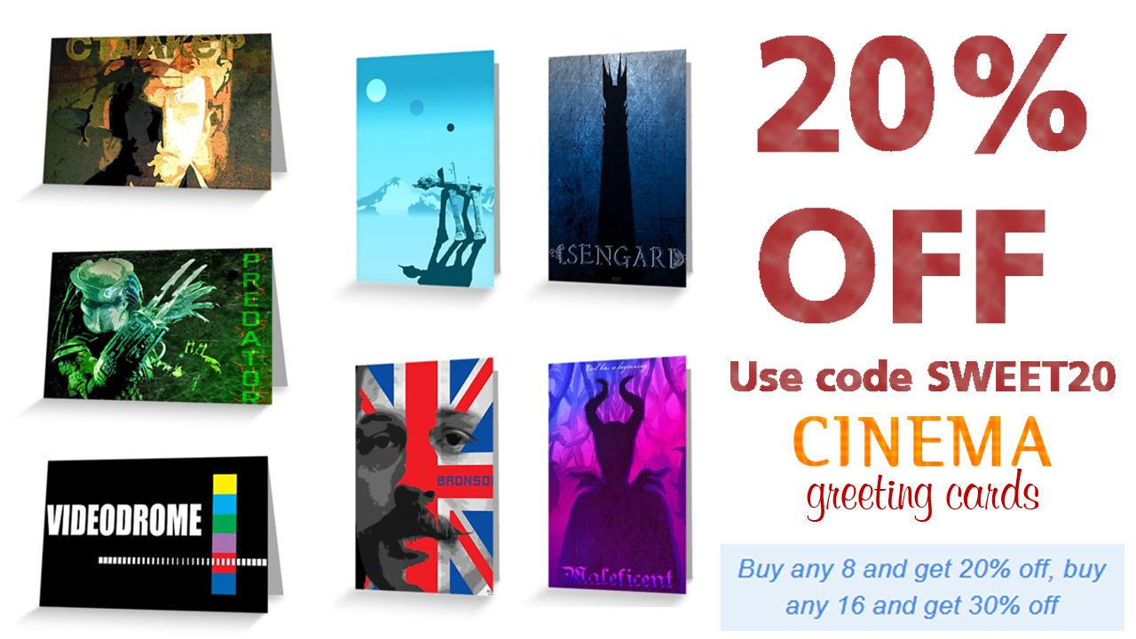 Cinema Greeting Cards 20 Off Everything Use Code Sweet20 Cinema