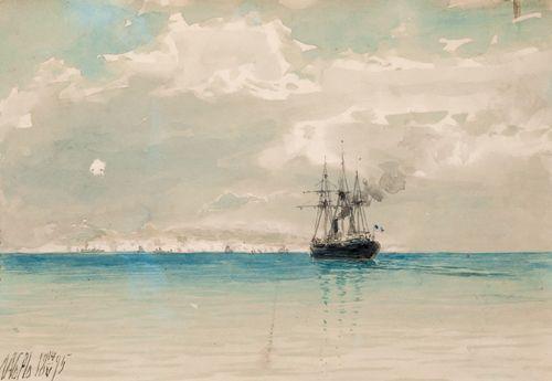 Lev Lagorio - Marina, bank of Palestine (1895)