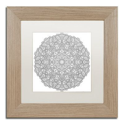 "Trademark Art ""Mixed Coloring Book 3"" by Kathy G. Ahrens Framed Graphic Art Size: 11"" H x 11"" W x 0.5"" D, Matte Color: White"