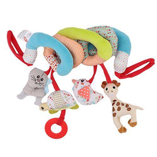 Twisty Spirale dactivit/és Hanging Jouets Lalang B/éb/é Jouet de Poussette Berceau Hochet Jouets Animales /éducatifs en Peluche