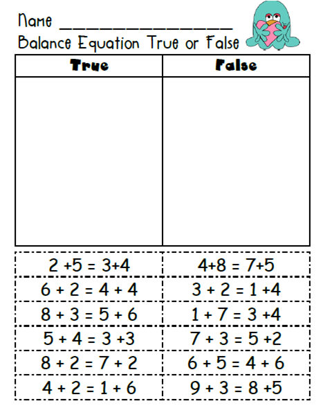 True/false for Mathematics... This seems useful even for linking ...