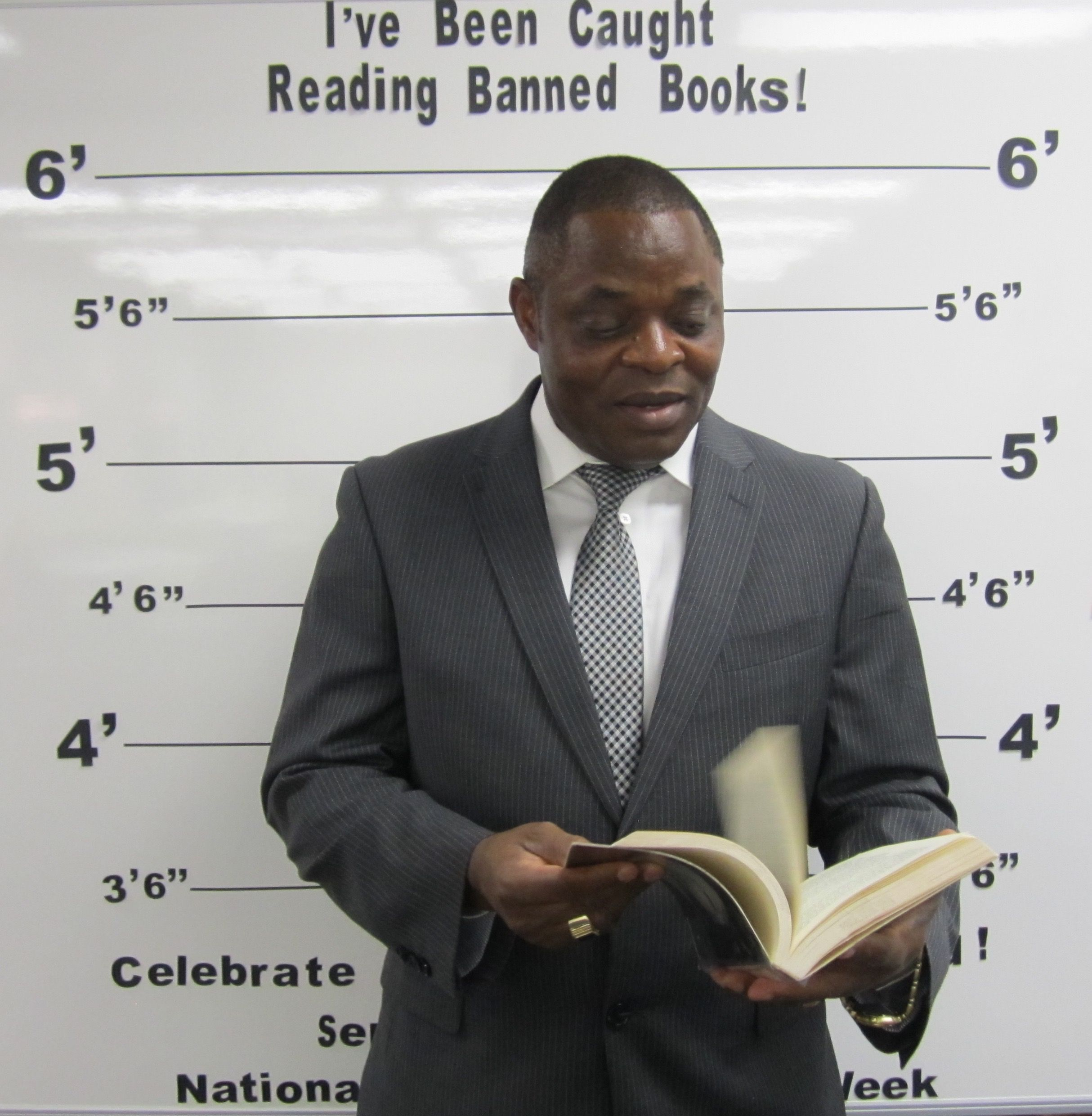 """September 2015 - Banned Books Week - """"I've Been Caught Reading Banned Books!"""" - September 27th thru October 3rd - USU Eastern/Price Vice Chancellor"""