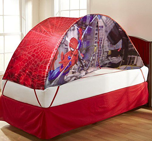 Marvel Spider-Man Bed Tent with Pushlight @ niftywarehouse.com #NiftyWarehouse #Spiderman & Marvel Spider-Man Bed Tent with Pushlight @ niftywarehouse.com ...