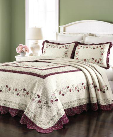 martha stewart collection prairie house bedspreads - quilts