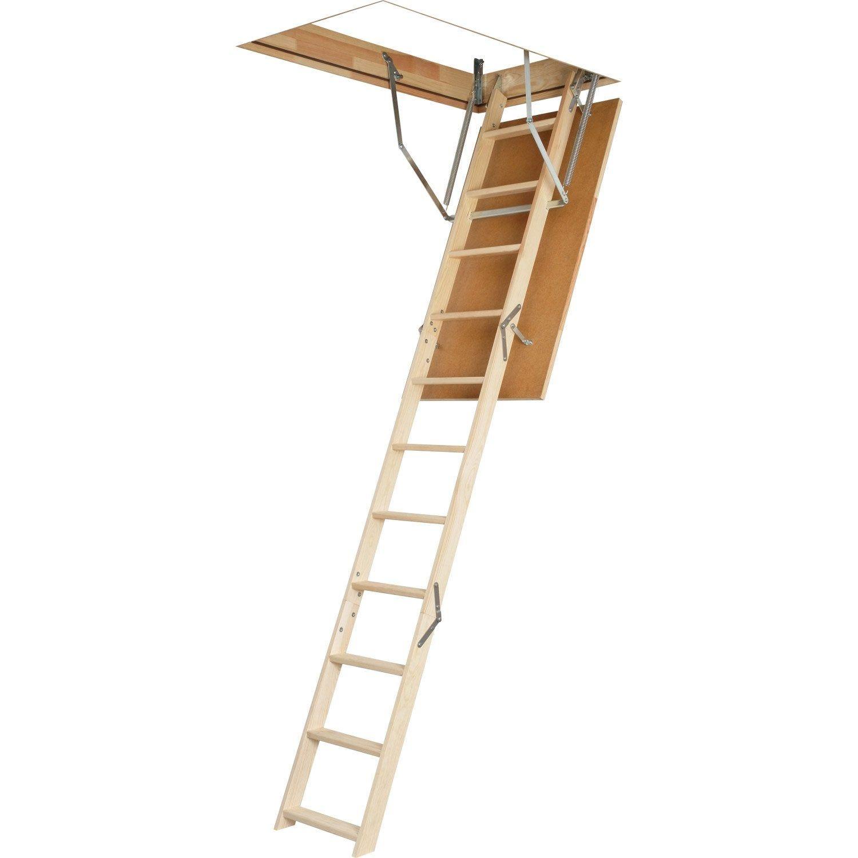 Escalier Escamotable Droit Structure Bois Marche Bois