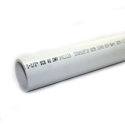 1 1 2 In X 10 Ft 330 Psi Schedule 40 Pvc Dwv Plain End