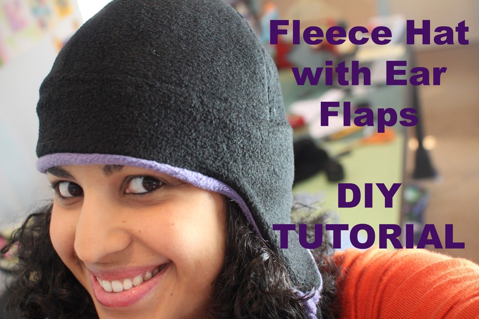 DIY TUTORIAL- How to make a REVERSIBLE fleece hat with ear flaps. By ...