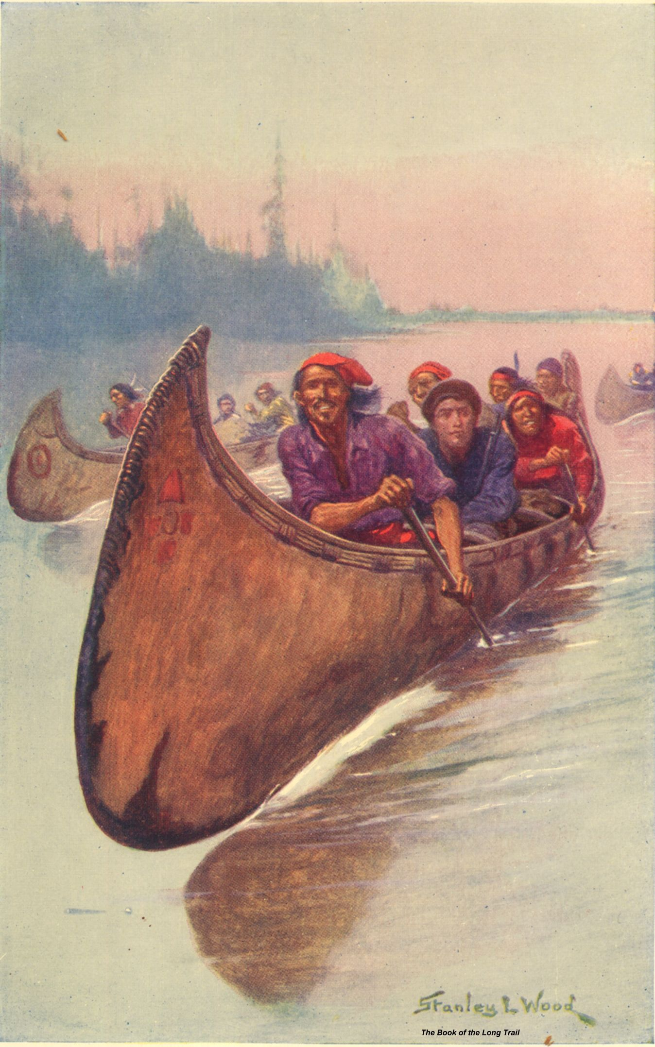 """Illustration from """"Book of the Long Trail"""" by Henry John"""
