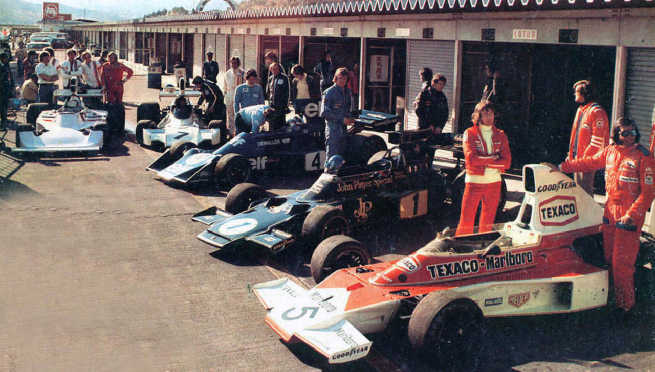 luimartins: 1974 Fittipaldi Mclaren Peterson Lotus Depailler Tyrrel Reutemann Brabham Hunt Hesketh