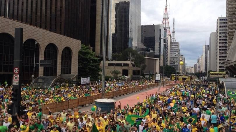 Protestos na Avenida Paulista contra a Dilma em 15 de março