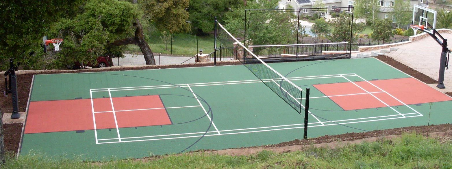 diy residential volleyball court Google Search Solar
