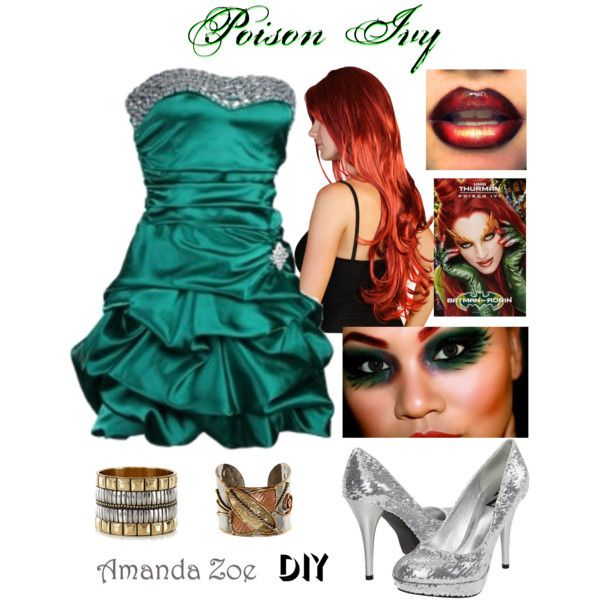 Poison Ivy Halloween Costume\ - green dress halloween costume ideas