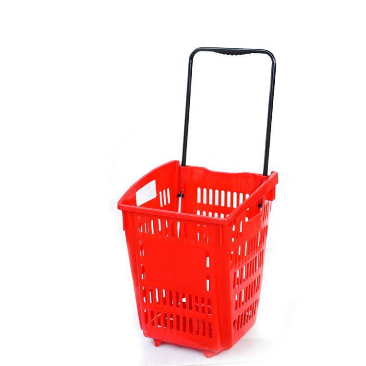 Hot Sale Plastic Shopping Trolley Shopping Trolley Shopping Basket Plastic Laundry Basket