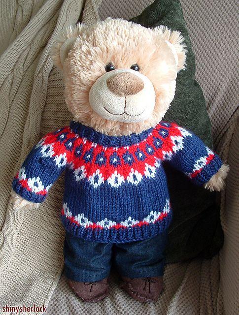 Ravelry: John Watson Bear Christmas Jumper pattern by shinysherlock ...