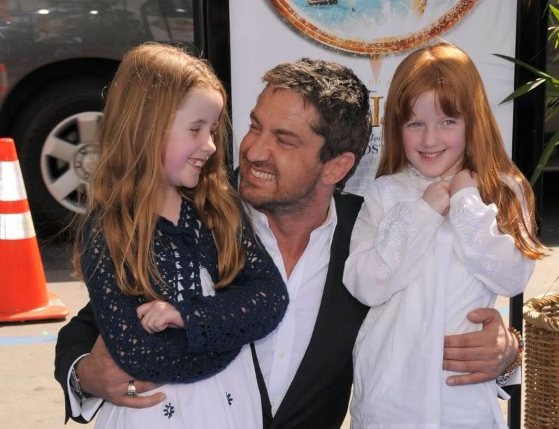 gerry with twin nieces at the nims island premiere the