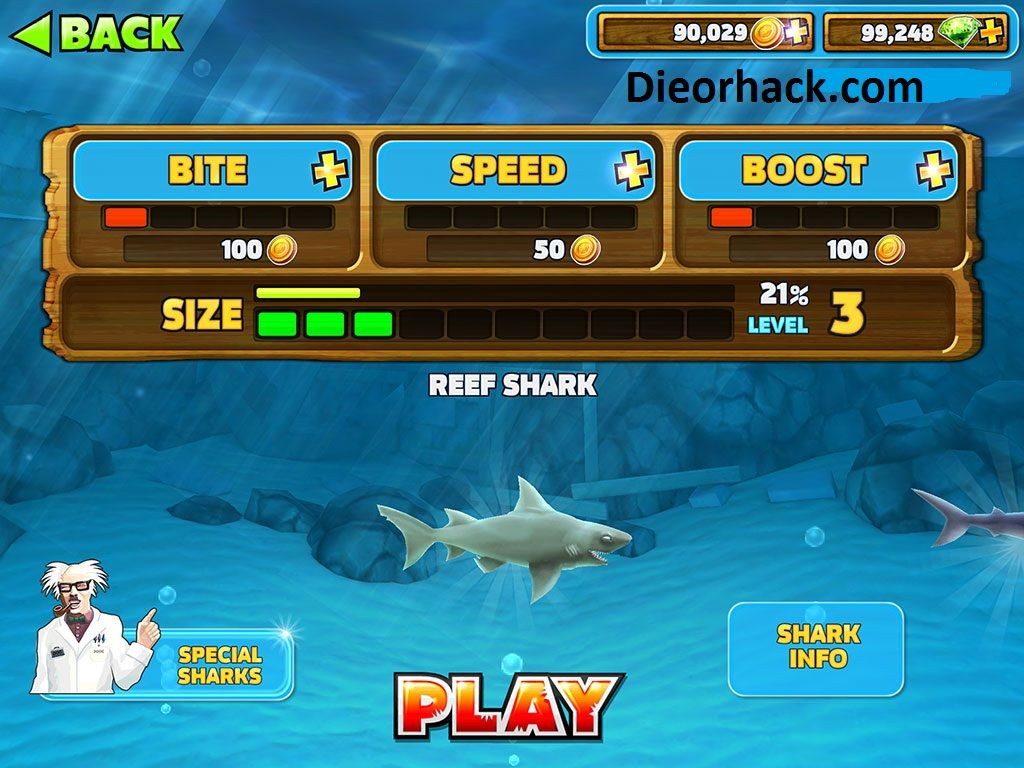 how to get gems in hungry shark evolution
