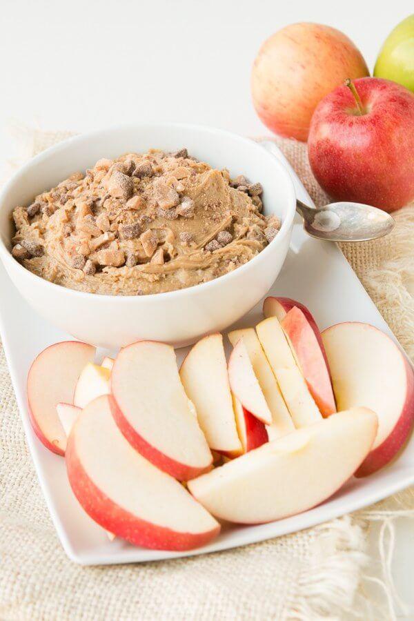 Peanut Butter Toffee Apple Dip Recipe Toffee apple dip