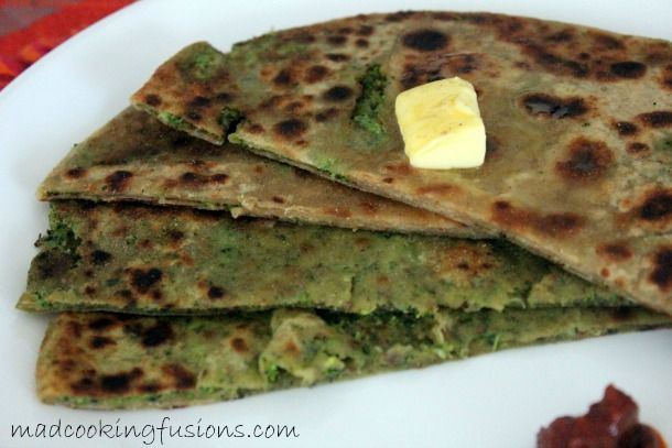 Broccoli Stuffed Paratha  Recipe here - http://madcookingfusions.com/broccoli-paratha-step-by-step-recipehow-to-make-broccoli-stuffed-paratha/