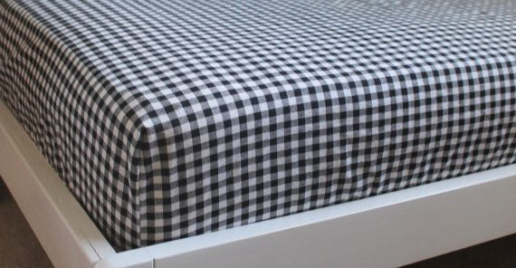 Fitted Crib Baby Toddler Boy Girl Sheets Black by NorthBendCircle