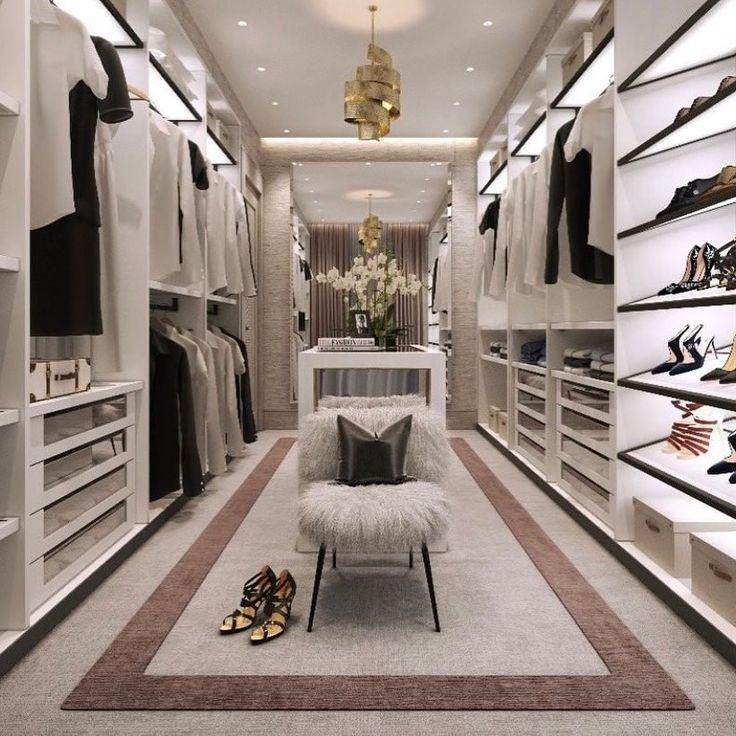 begehbarer Kleiderschrank | Ankleidezimmer Ideen | Einbaukleiderschrank