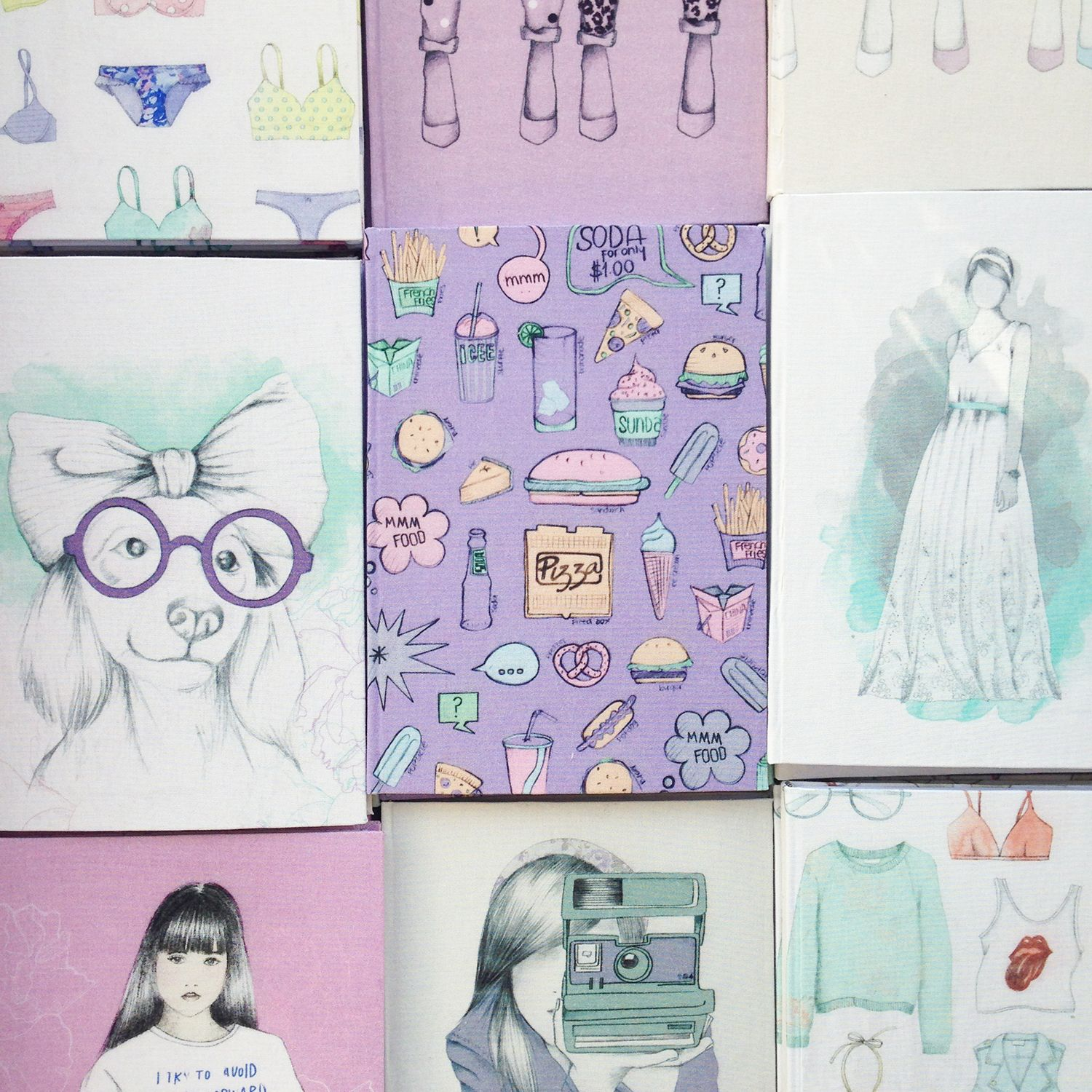 FOR ANY OCCASION, there's always a #notebook  Use it for recipes, notes, sketches, as a wedding planner, a journal, a planner or a photo album... #love #illustration #notebooks
