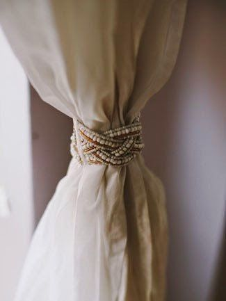 10 Clever Curtain Tie Backs Diy Curtains Curtain Tie Backs