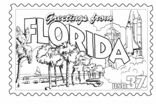 Fl Stamp Coloring Pages Florida Coloring Books