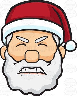A Frustrated Face Of Santa Claus 1