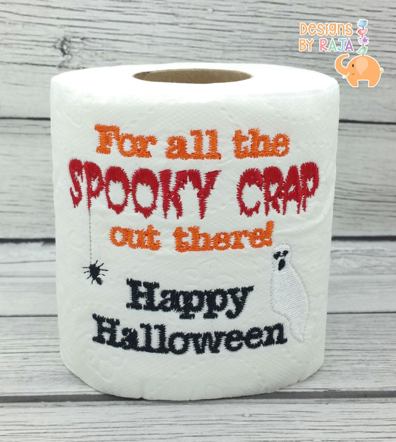 Embroidery designs for toilet paper - Happy Halloween Embroidered Toilet Paper Halloween Decorations Spooky Decor Funny Gag Gift