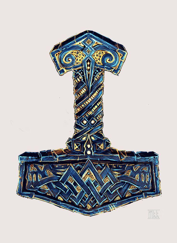 Thor's Mjölnir Artwork. Territorio Vikingos