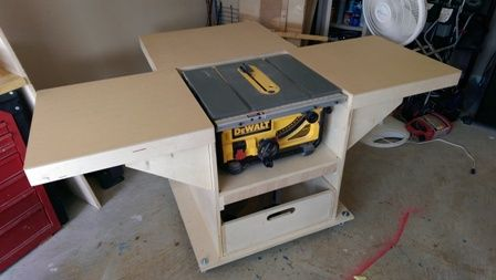 Mobile Stand For My New Table Saw 2014 04 05 16 26 04 Jpg