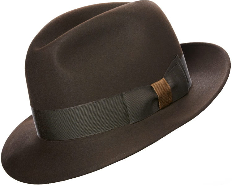 """5dafb60ce4fce OUR TIMELESS """"CHICAGO"""" STYLE FEDORA BEAUTIFULLY RENDERED IN OUR MOST  LUXURIOUS OPTIMO 1000 FELT – A SOFT MEDIUM BLUE WITH A MARSHMALLOW-LIKE HA…"""
