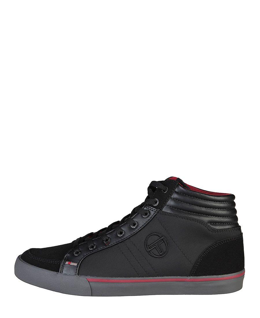 Sergio tacchini - sneakers stringate alte -  tomaia in simil pelle e tessuto -  occhielli in metallo -  sottopiede ammor - Sneaker uomo Nero