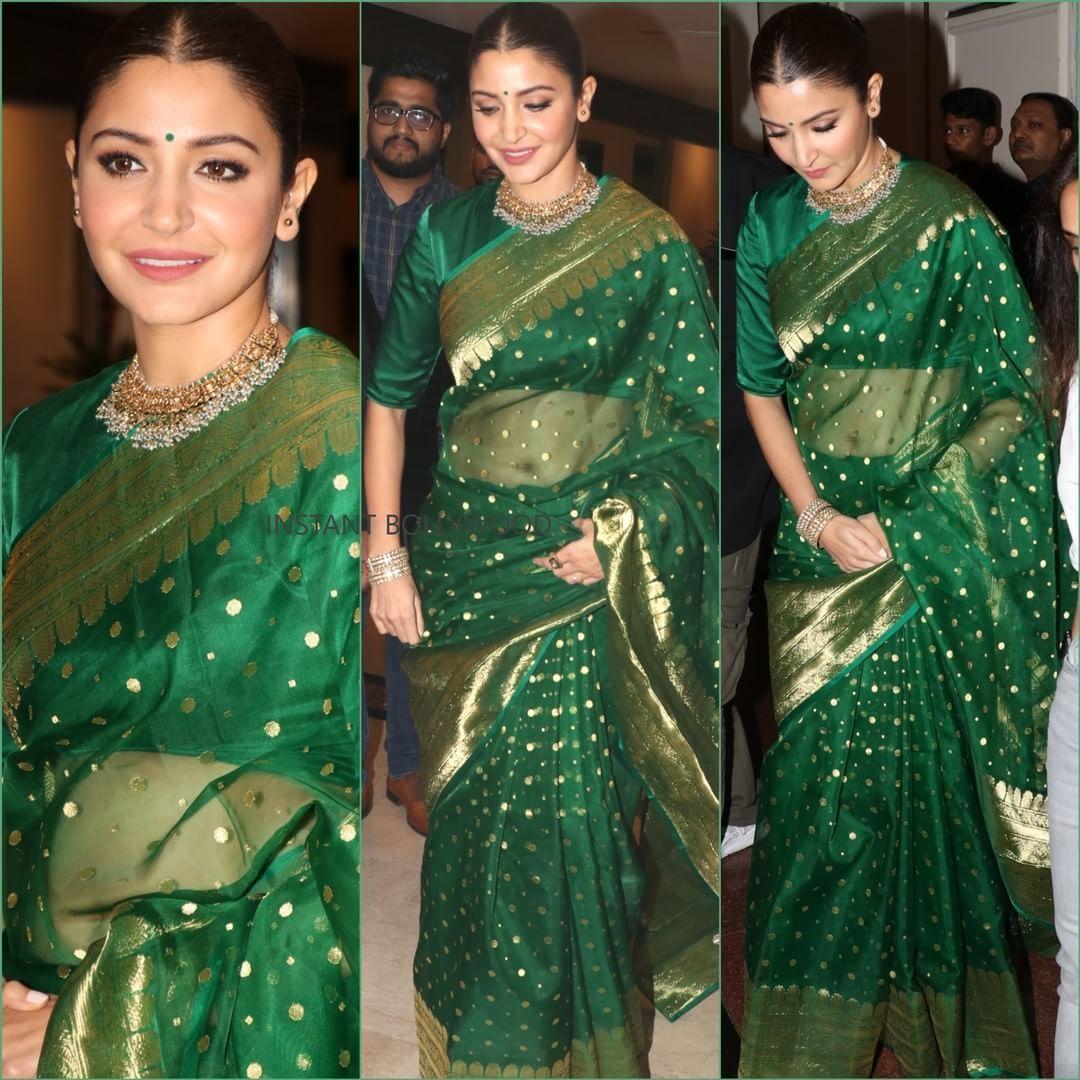 Anushka Sharma at an awards night in Delhi tonight. Rate ...