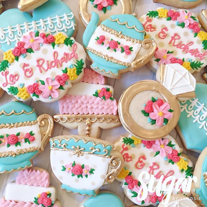 tea party bridal shower cookies more