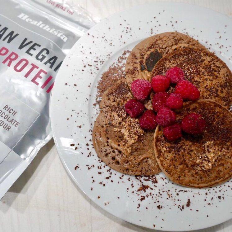 Vegan protein pancakes PLUS 8 other protein powder recipes that AREN'T smoothies #proteinpowderpancakes vegan protein powder pancakes recipe healthista #proteinpowderpancakes
