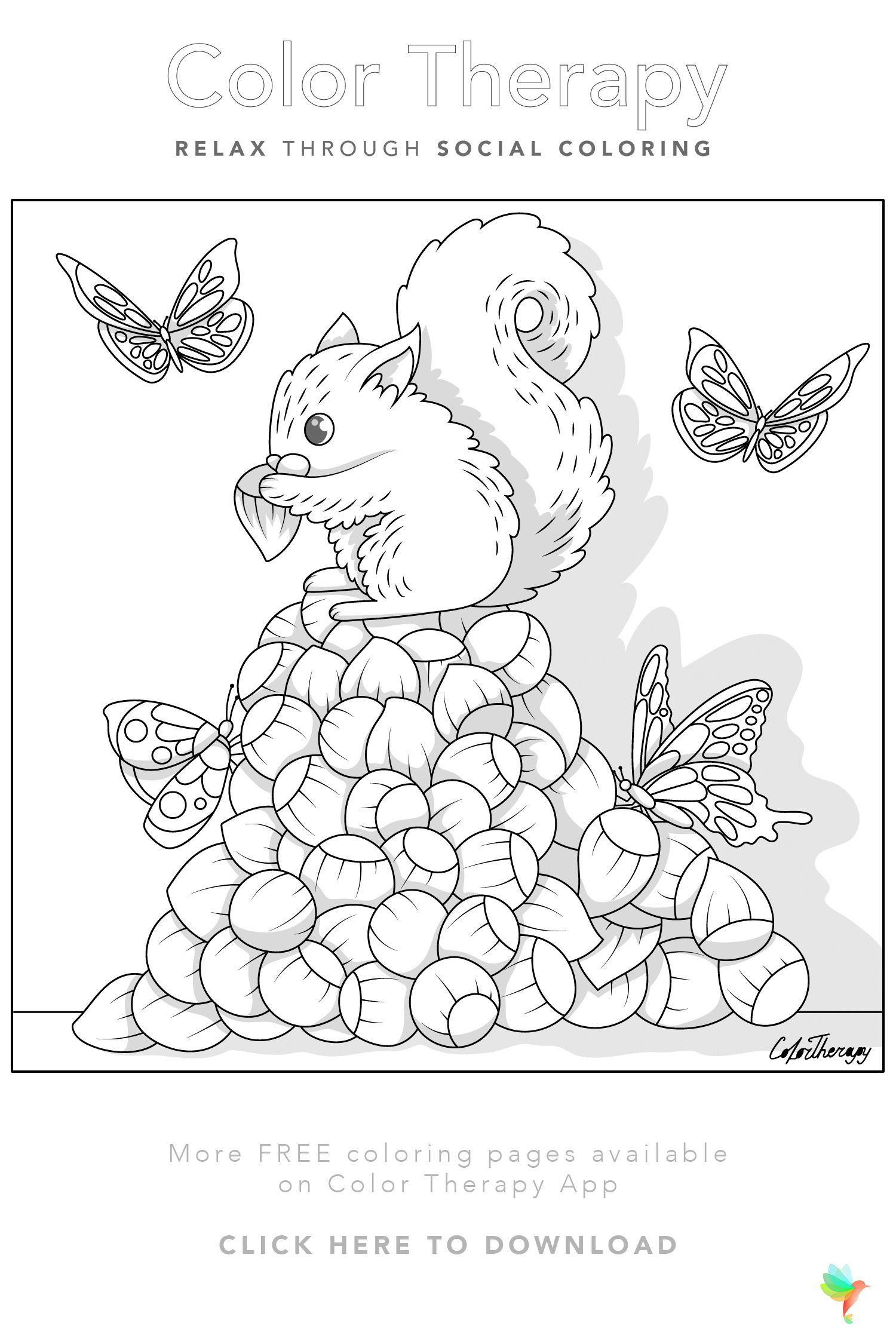 Color Therapy Gift Of The Day Free Coloring Template Free Coloring Pages Coloring Pages Coloring Books