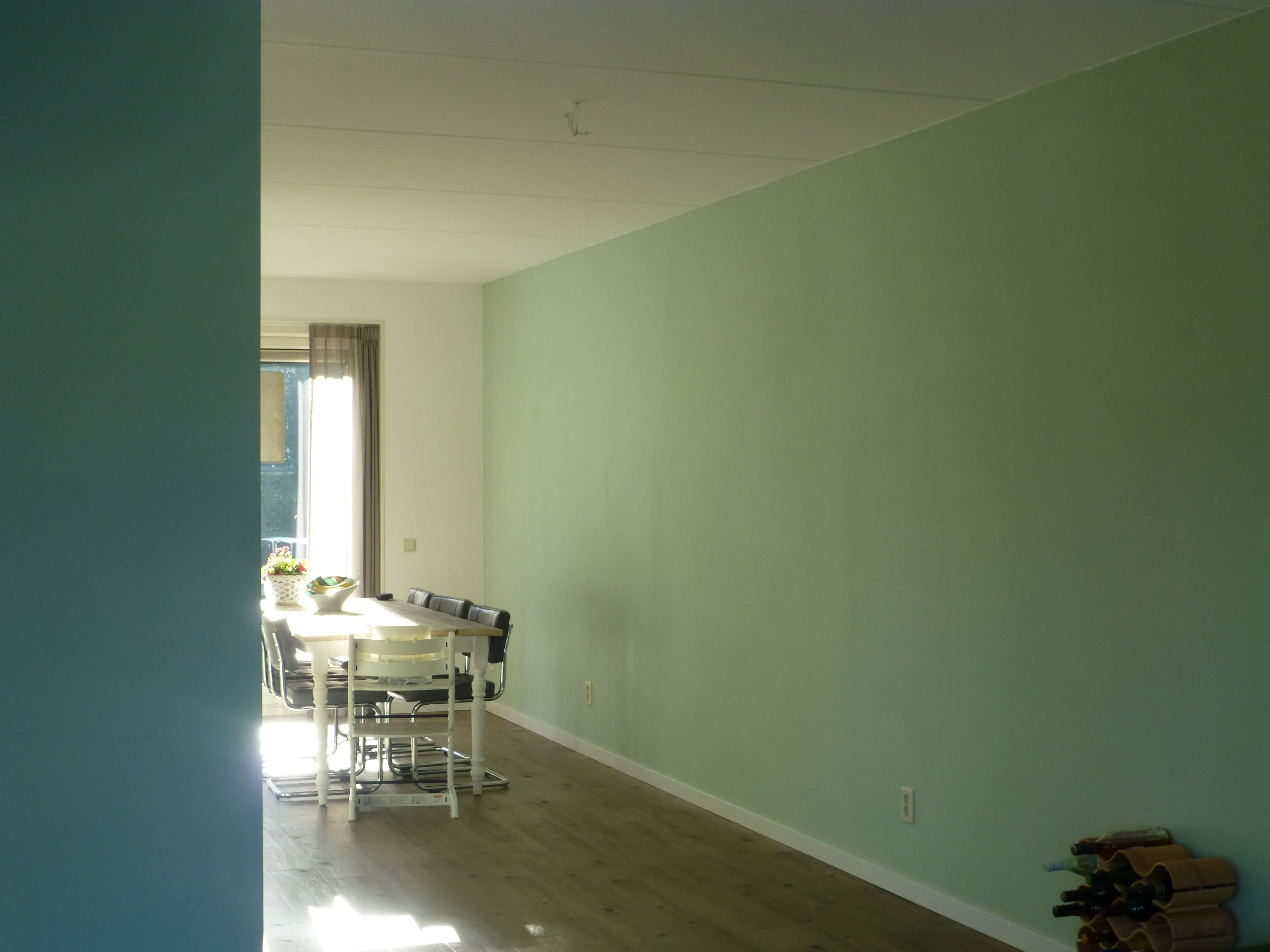 Woonkamer: Kleuren op de muur: Links Flexa Pure: Subtle Ocean ...